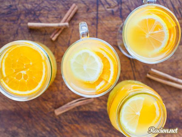 Рецепт Пряный цитрусовый чай