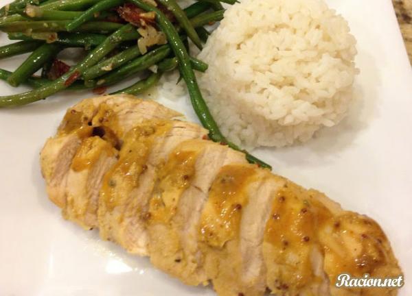 Рецепт Курица в горчично-медовом соусе в мультиварке