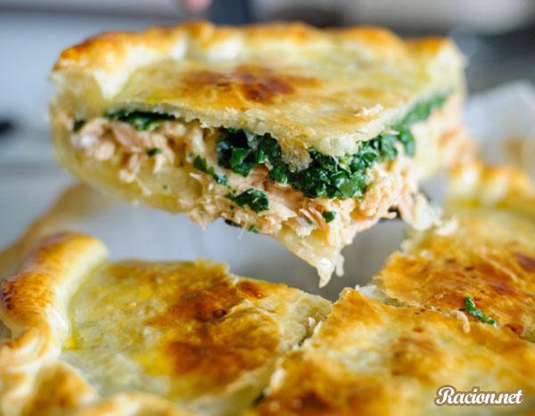 Рецепт Лосось с овощами под корочкой