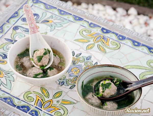 Рецепт Китайский суп с фрикадельками
