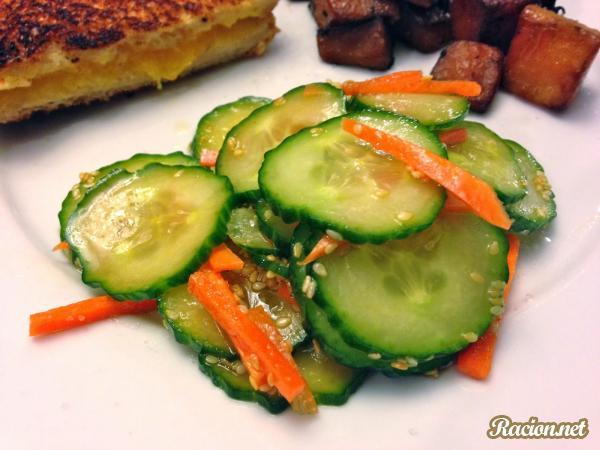 Рецепт Огуречный салат по азиатски