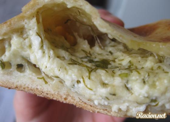 Осетинские пироги с сыром и зеленью