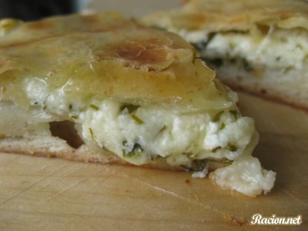 Рецепт Осетинские пироги с сыром и зеленью. Приготовление блюда