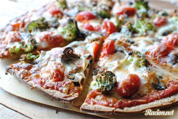 Рецепт Тонкая пицца с помидорами
