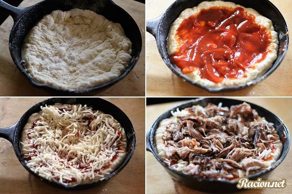 Рецепт пиццы в домашних условиях сливочным соусом