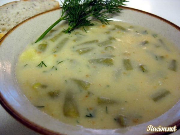 Рецепт Польский суп из зеленой фасоли (Polievka zo Zelenej Fazule)