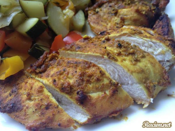 Рецепт Острая куриная грудка по индийски