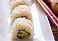 Суши ролл с шиитаке и авокадо