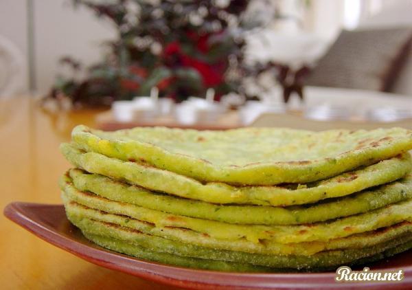 Рецепт Индийские блинчики парата с картошкой