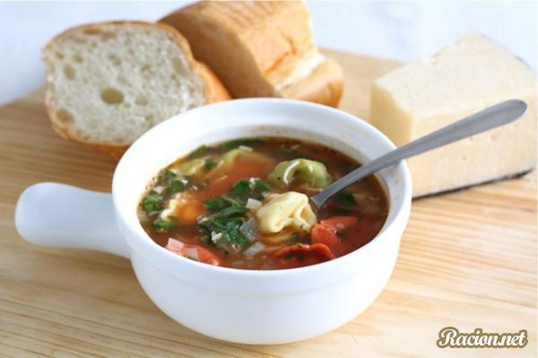 Рецепт Суп с тортелини (или пельменями)