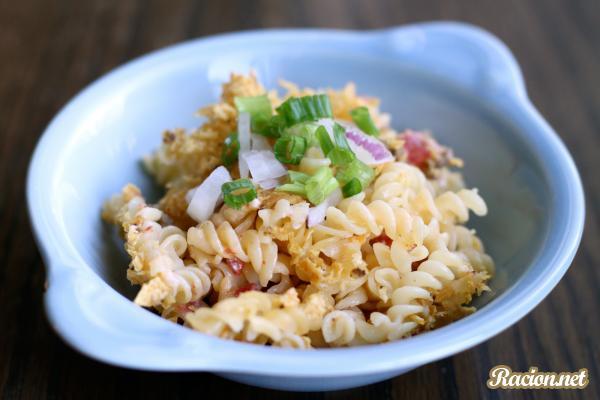 Рецепт Макароны с сырным соусом и начо