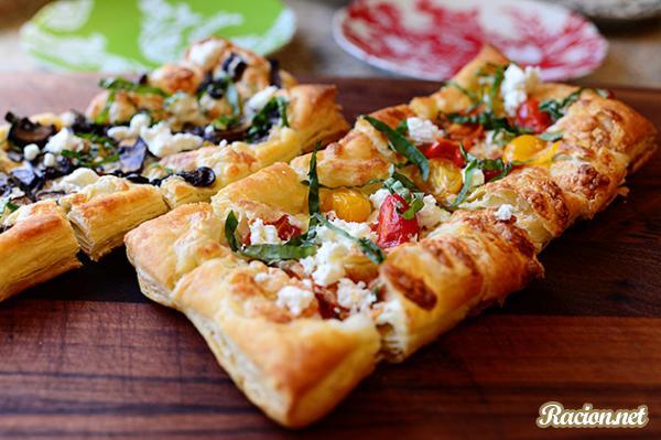 Рецепт Грибная пицца из готового теста