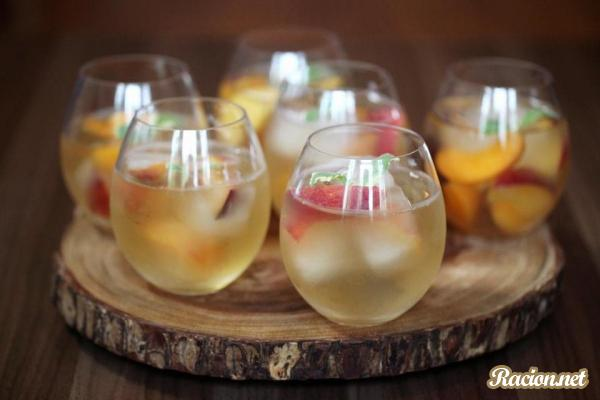 Рецепт Сангрия из белого чая