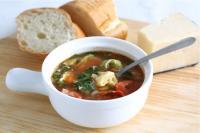 Суп с тортелини (или пельменями)