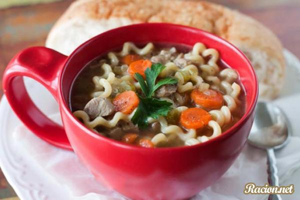 Рецепт Суп вермишелевый в мультиварке с индейкой
