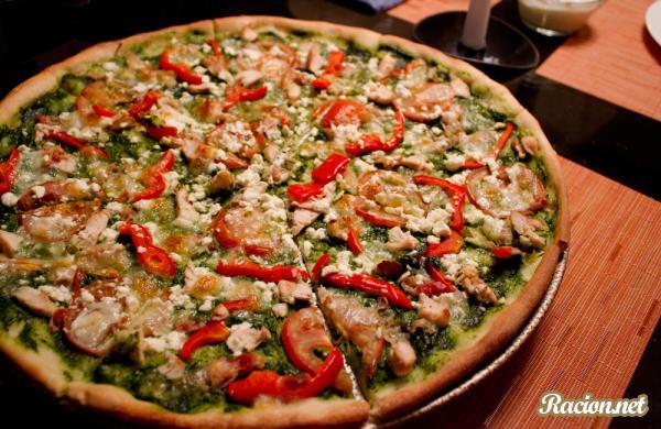Рецепт Пицца с соусом песто