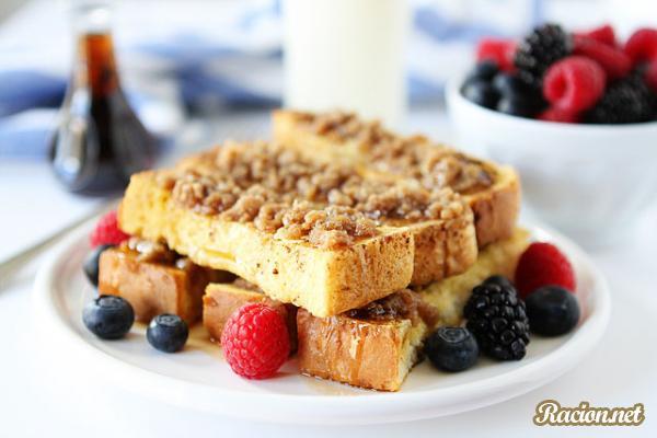 Рецепт Французский тост с корицей и кленовым сиропом