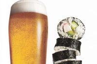 Роллы Калифорния и светлое пиво