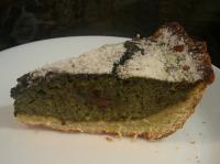 Сладкий открытый пирог с авокадо
