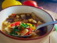 Суп из овощей гриль