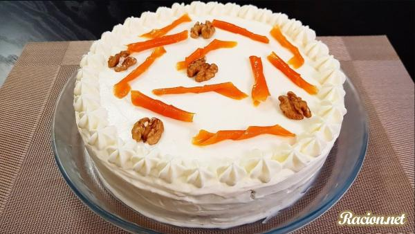 Рецепт Морковный торт с сырным кремом. Приготовление   блюда